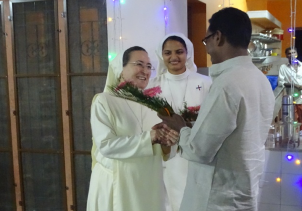 Reception Program to Mother General and Sr. Mini