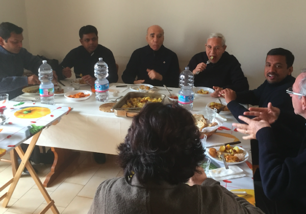Visit of Fr. Mathia and Family