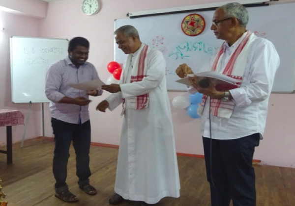 Fr. Biju Attends Assamese Course