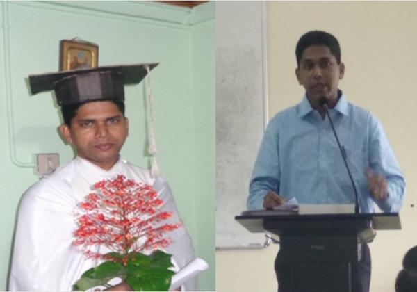 Congratulations to Dr. Binoj!