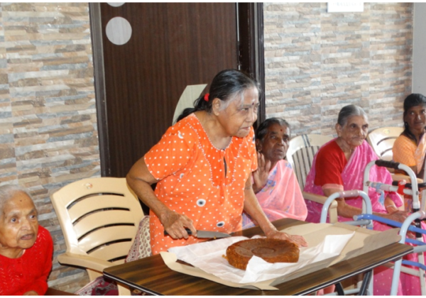 Celebration at the Home for the Elderly