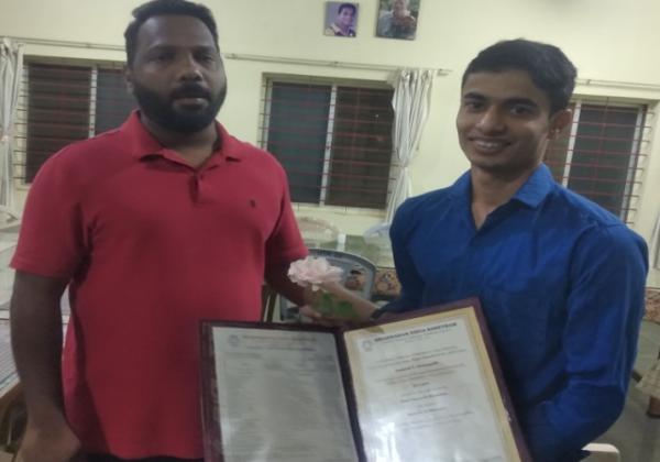 Congratulations to Bro. Anugrah